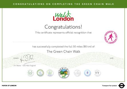 Green Chain Walk (80km/50mi), London